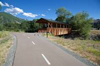 The covered bridge along the Big Cottonwood Canyon Trail