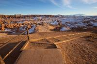 The trail leading into Goblin Valley from the parking area
