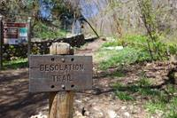 A sign marks the beginning of the Desolation Trail and the Salt Lake Valley Overlook hike