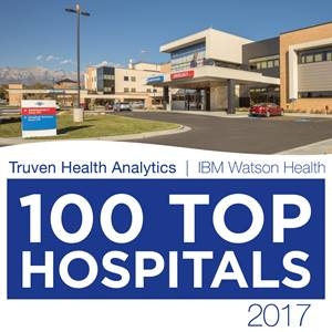 American Fork Hospital has been named one of the nation's 100 Top Hospitals by Truven Health Analytics