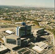 Aerial shot of IMED after construction was complete in 2007