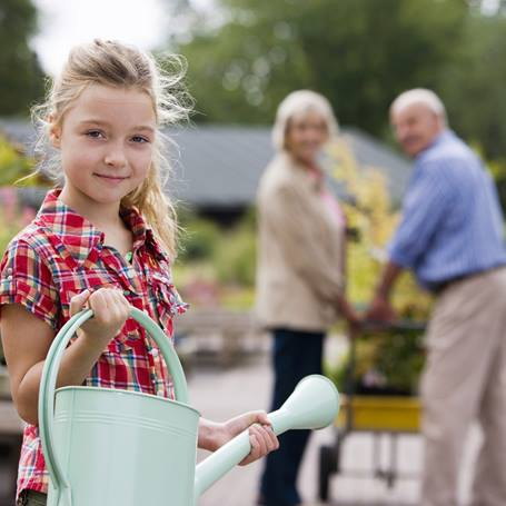 Gardening is a great way for families to be active outdoors