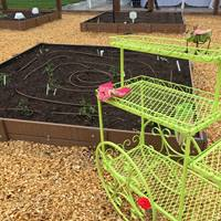 Garden plots at the Orem Community Hospital LiVe Well Garden