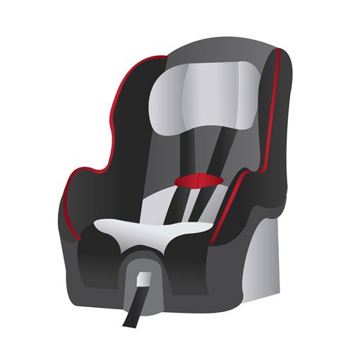 child car seat information sticker