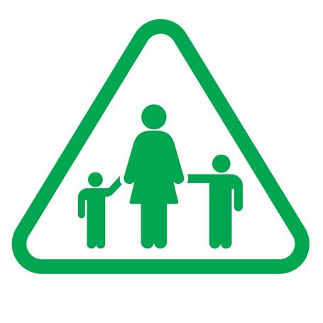 child safety pedestrian icon