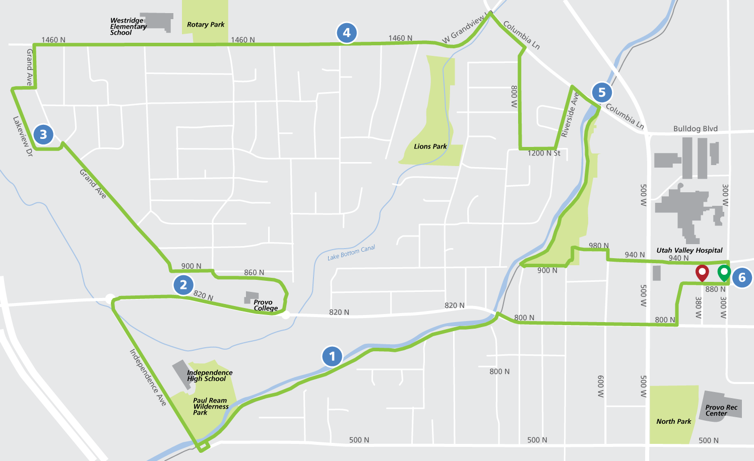 Race for Red 10K Route Map