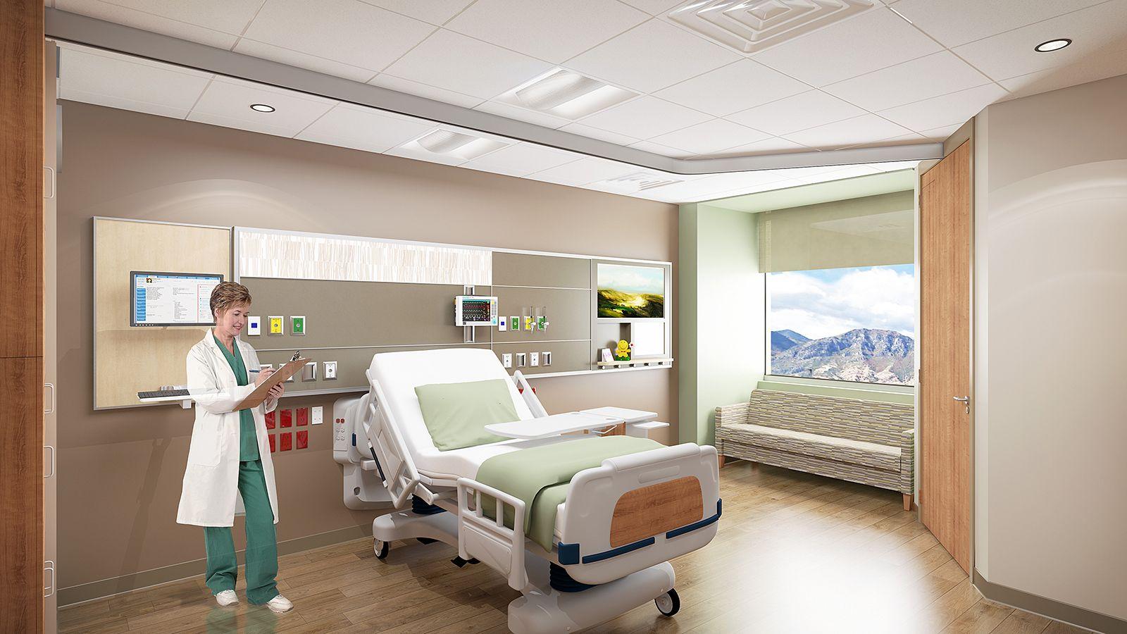 medical interior wallpaper: Utah Valley Hospital