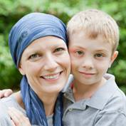 Female cancer survivor with her son