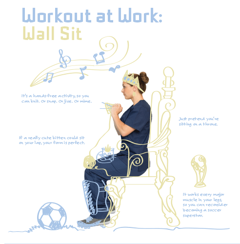 work-out-at-work---wall-sits