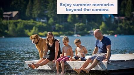 Want memories of your summer vacation? Take fewer photos and engage all your senses.