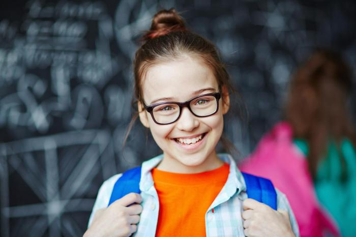Back to school kid with glasses