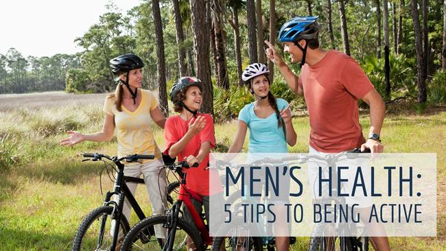 Mens Health-5 Tips to Being Active