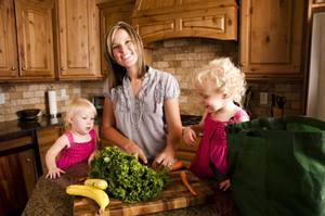 Mom and kids healthy