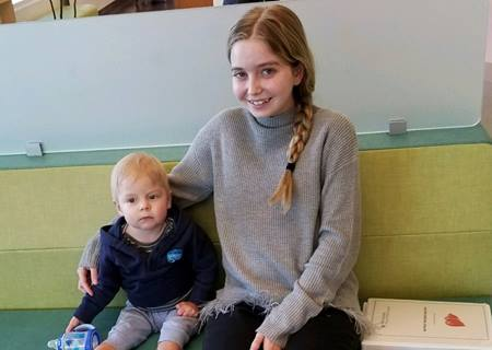 Sophie and Brycen - split liver transplant crop
