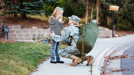 How to help your child cope when your spouse has a military deployment