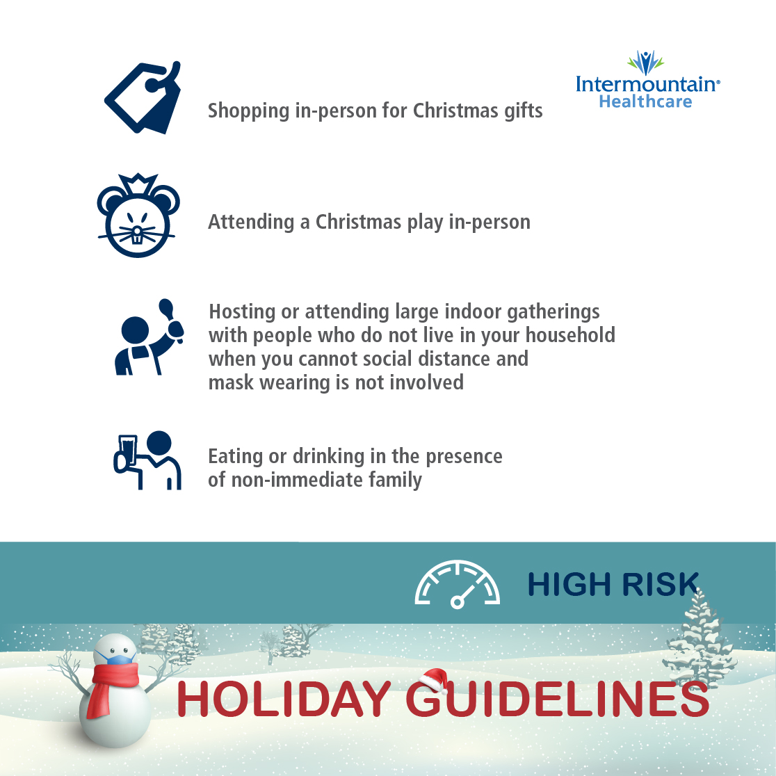 holiday guidelines high