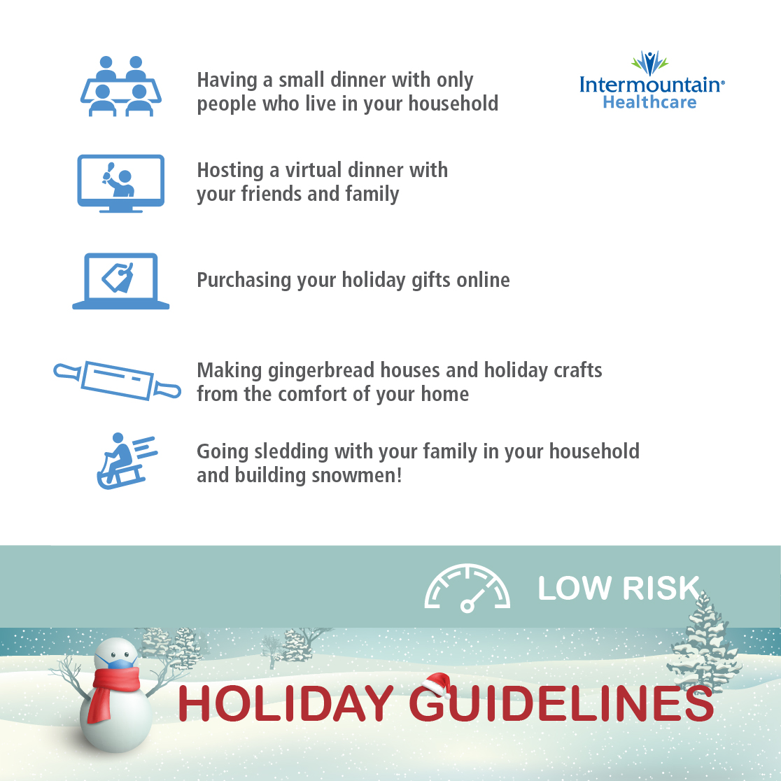 holiday guidelines low