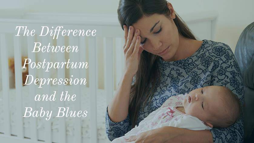 """postnatal depression baby blues What is postnatal depression how does this differ from the """"baby blues"""" the arrival of a new baby is one of life's happiest moments, yet it can also be associated with anxiety, exhaustion and stress."""