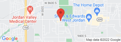 Map to West Jordan Clinic Physical Therapy