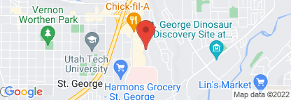 Map to Intermountain Psychiatry and Counseling - St. George