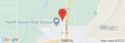 Map to North Sevier Medical Clinic