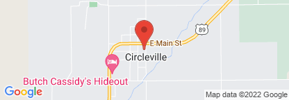 Map to Circleville Clinic