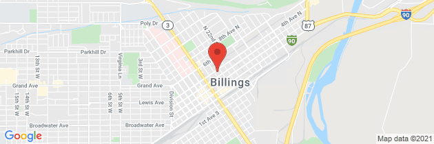 Map to Billings Kidney Clinic