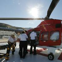lifeflight nurses transporting patient