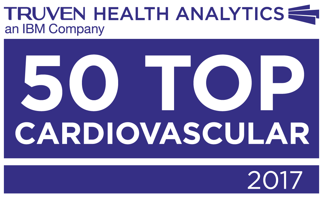 Utah Valley Hospital is one of the 50 Top Cardiovascular Hospitals in the country named by Truven Health Analytics™ an IBM company
