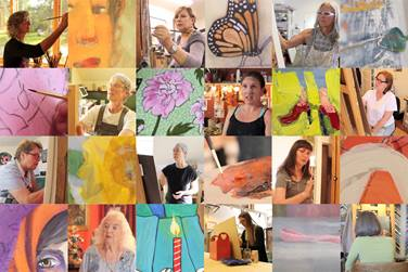 Artists 20and 20paintings 20in 20creating 20for 20the 20cause