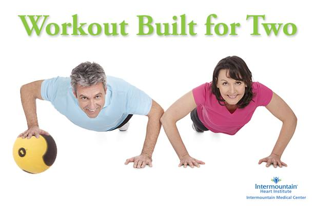 Medicine ball workout built for two
