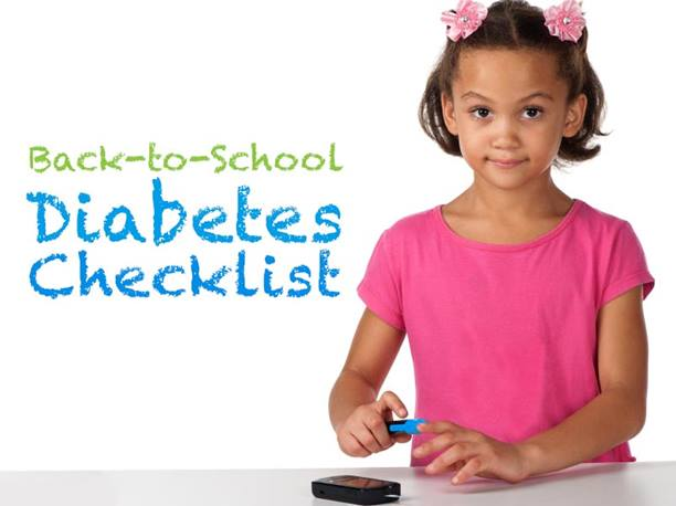 back-to-school diabetes checklist