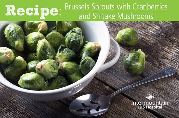 Brussels Sprouts with Shitake Mushrooms